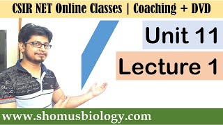 CSIR NET life science lectures | Unit 11 Lecture 1