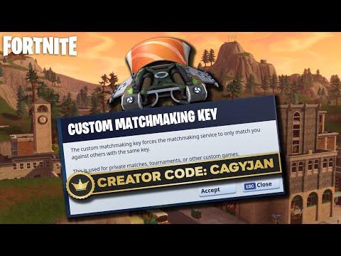 how to make custom matchmaking fortnite