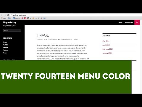 Change Twenty Fourteen Menu Color on Hover, Link, ETC
