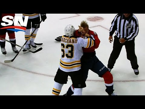 Brad Marchand Feeds Lars Eller For Taunting Bench