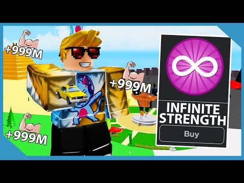 Buying The Infinite Strength Gamepass in Roblox Big Lifting Simulator! Finally Got On Leaderboard!