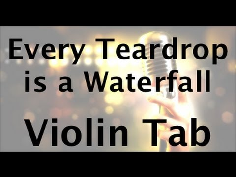 Learn Every Teardrop is a Waterfall on Violin - How to Play Tutorial