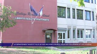 Yvelines | Le département investit plus de 500 millions d'euros pour les collégiens et les lycéens