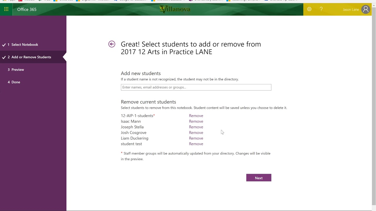 Removing and disabling student access to OneNote Class Notebooks