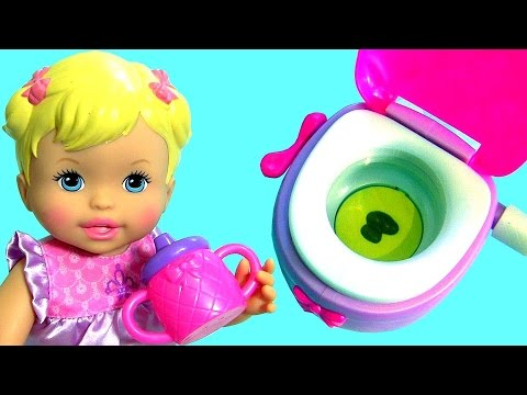 Little Mommy Baby Doll Poops Pees On A Toilet Toy