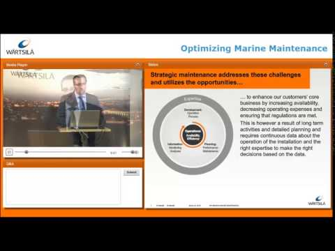 How to optimize marine maintenance? Webinar | Wärtsilä