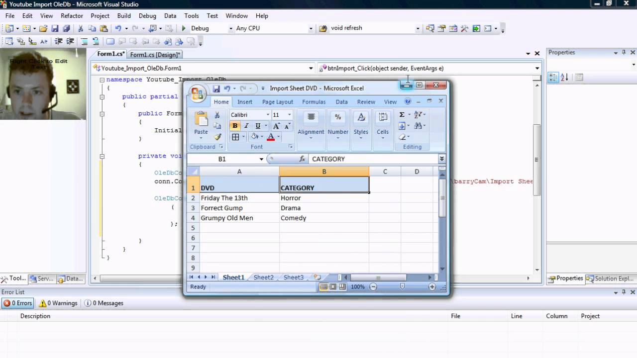 how to make a playlist on youtube from excel