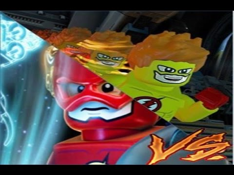 THE Flash VS kid Flash LEGO BATMAN 3