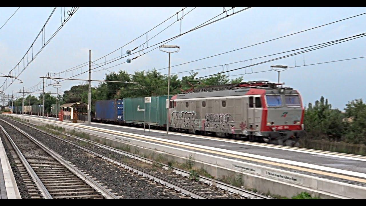 [HD - Treni] E652.065 Mercitalia Rail + Treno Merci in transito a Sant'Ilario d'Enza!