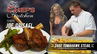 Tomahawk Ribeye Steak & Lobster Mac and Cheese