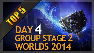 Top 5 Plays - Worlds Group Stage 2 Day 4 (League of Legends)