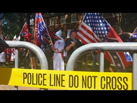 KKK rally for confederate monument leaves early as hundreds protest