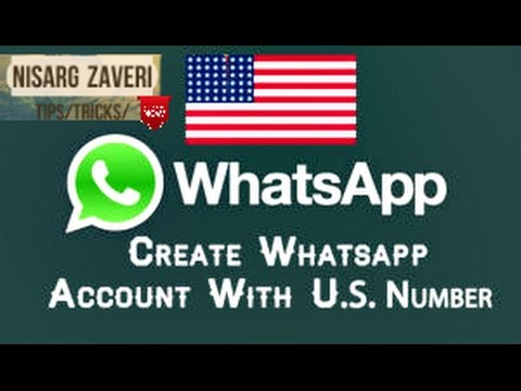 How to USE Whatsapp with US number(FAKE NUMBER) FOR FREE