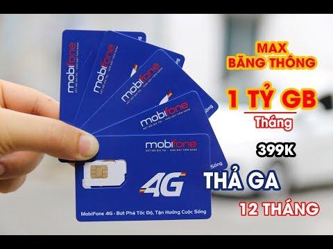 SIM 4G Mobifone MAX Băng Thông