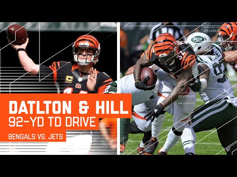 Andy Dalton Sets Up Jeremy Hill TD with 2 Huge Passes! | Bengals vs. Jets | NFL