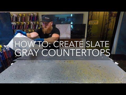 Countertop Epoxy How To Slate Grey Epoxy Countertop