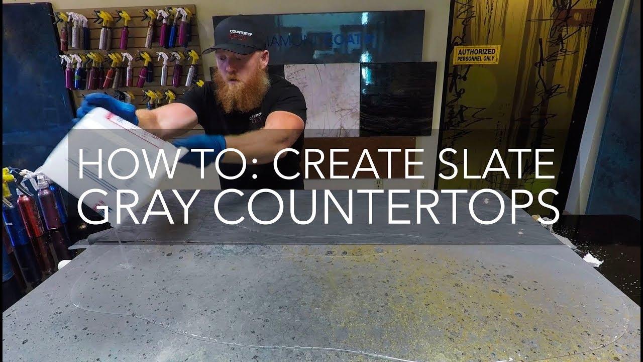 Countertop Epoxy How To Slate Grey
