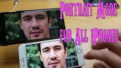 "iPhones 4/5/6/6s/7: Get ""Portrait Mode"" Effect Like iPhone 7 Plus!!!!!!!!!!!!!!!!!!!!!"