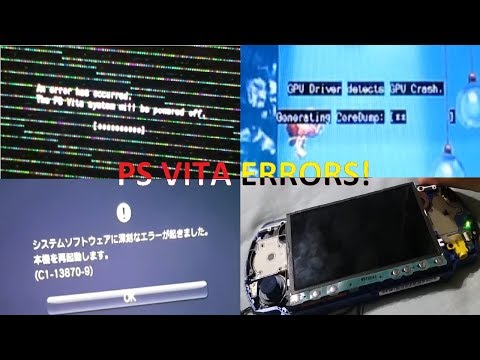 PS Vita All Errors! + forgotten PSP/PSP GO error
