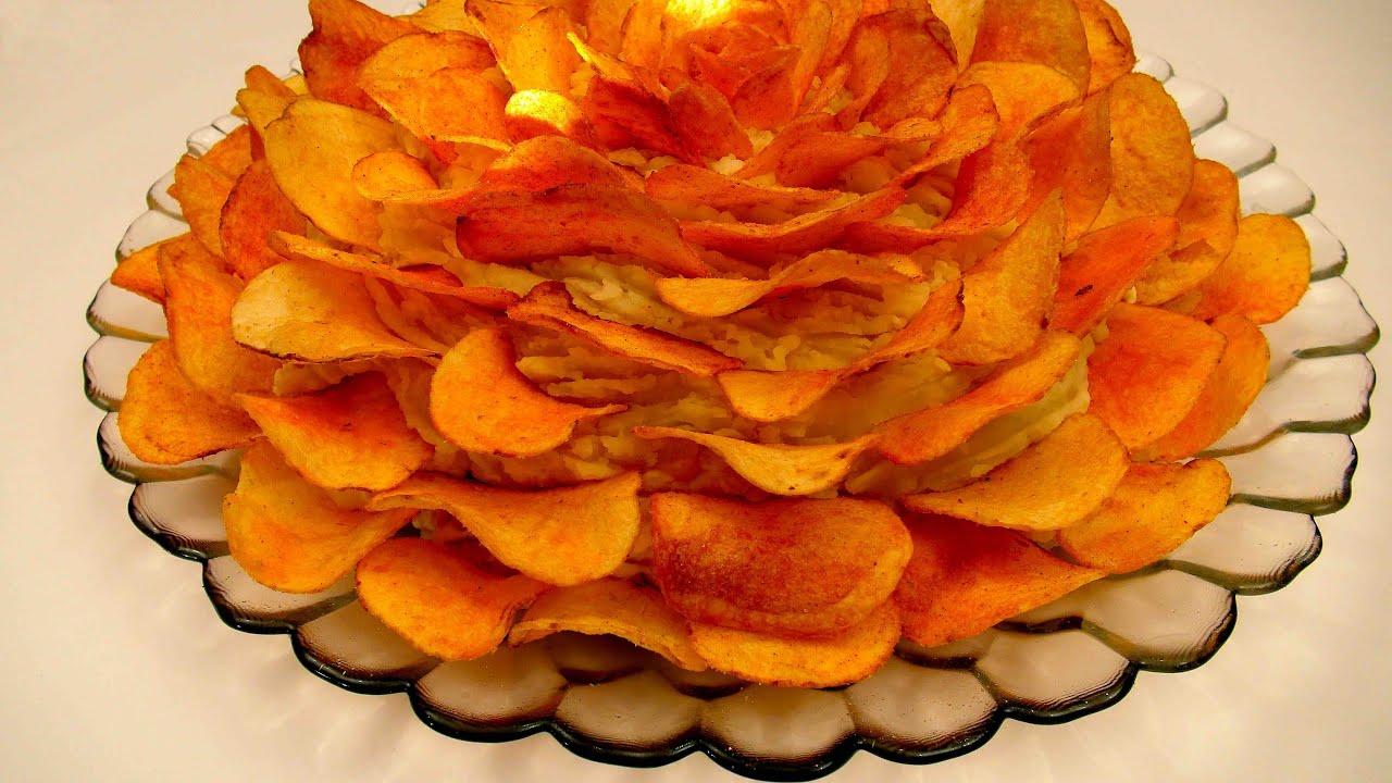 Вкусный салат с чипсами