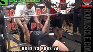 BROS VS PROS 24 Womens Bench Press Challenge!