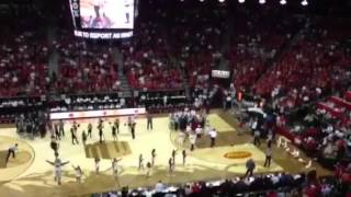 Half-court shot made during Mountain West Conference Tournament