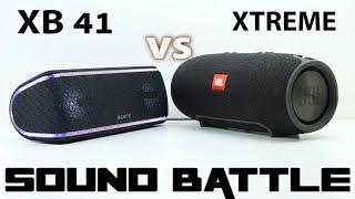 Sony SRS XB41 vs JBL XTREME :Sound Battle