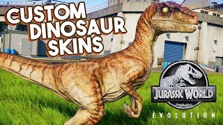 EXCLUSIVE: CUSTOM DINOSAUR SKINS IN GAME!! MODS WORK | Jurassic World: Evolution Modding Update