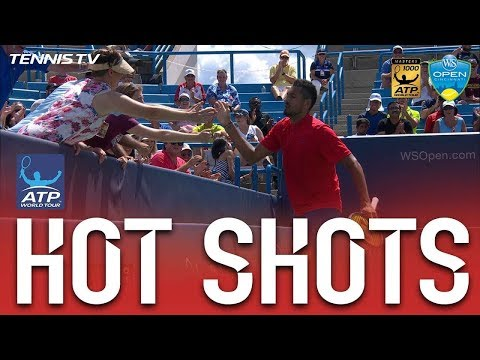Hot Shot: Kyrgios High Fives Fans After Scorching Forehand At Cincinnati 2017