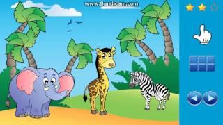 Видео для детей, учим английский язык. Животные на английском языке.