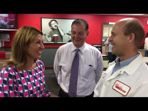Lt. Gov. Karyn Polito and state Rep. Angelo Puppolo tour Friendly's Ice Cream plant in Wilbraham