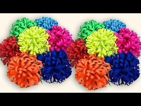 Paper Flowers | DIY Beautiful Fluffy flower Easy Craft Decorations | Paper Flower Making