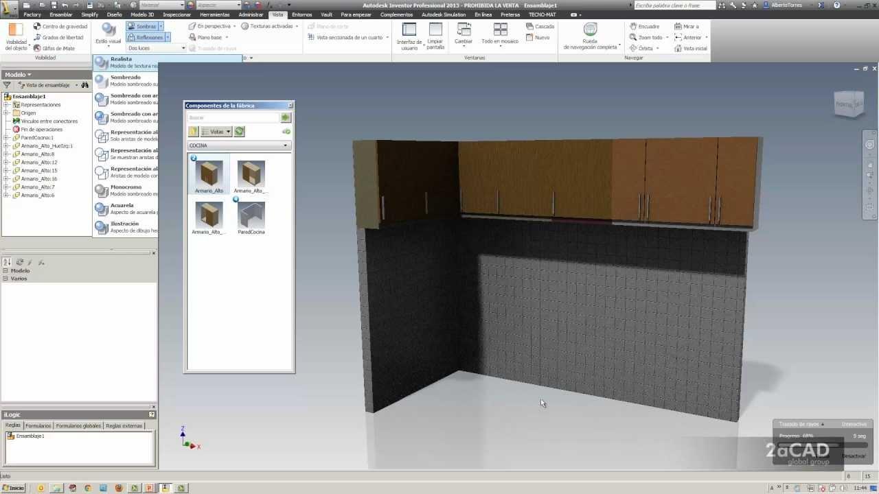 Autodesk factory design suite 2013 componentes cocinas for Programas para disenar cocinas en 3d
