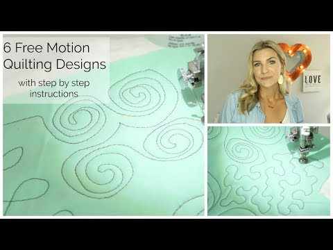 6 Simple Free Motion Quilting Design Tutorials