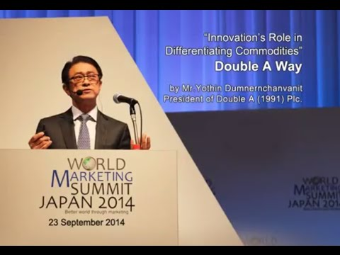 Double A at World marketing Summit 2014 in Japan