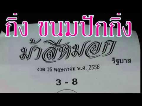 เลขเด็ดงวดนี้ หวยม้าสีหมอก 16/05/58