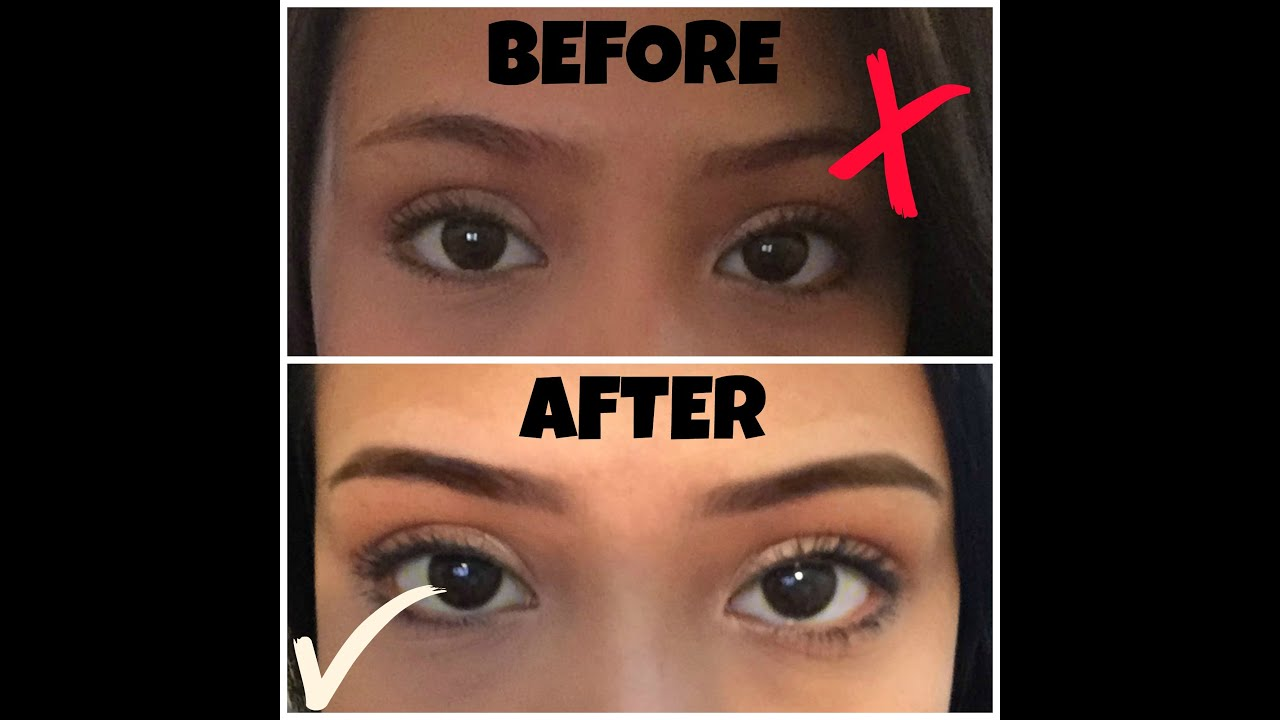 How I Shape And Tint My Brows Youtube