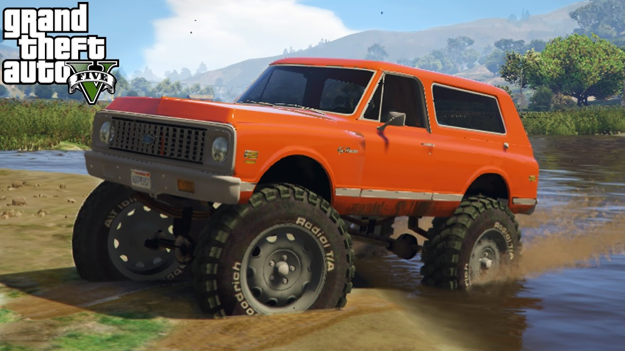 Chevy Blazer 4x4 >> JACKED UP CHEVY K5 BLAZER! 4x4 Off-Roading, Mudding, & Hill Climbing! (GTA 5 PC Mods) - YouTube