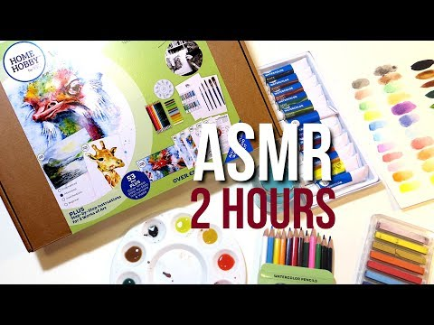 2 Hours Of Art & Craft Supply Unboxing ASMR || No Talking