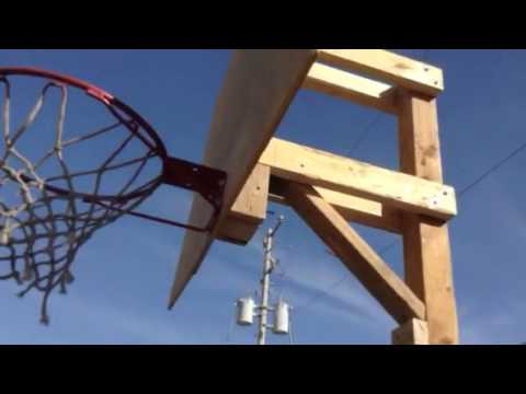 how to build a basketball hoop for cheap part 5 youtube. Black Bedroom Furniture Sets. Home Design Ideas
