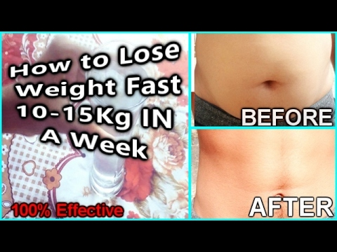 HOW TO LOSE WEIGHT FAST IN A WEEK AT HOME (No Diet, No Exercise) 100% Effective