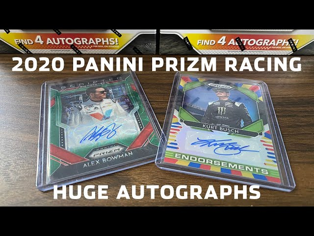 Limited Edition Cards! Unboxing 2020 Panini Prizm Racing and Pulling Rare Autographs and More