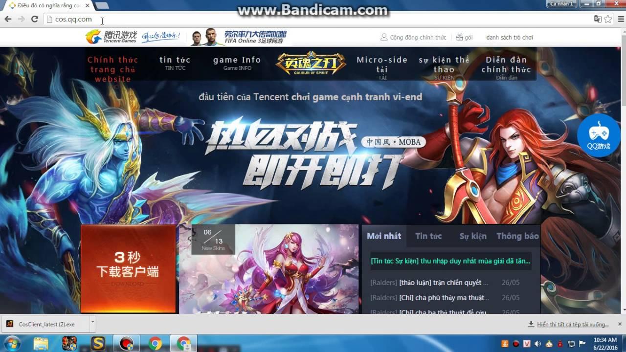 Cách Download Huyền Thoại MoBa Trung Quốc