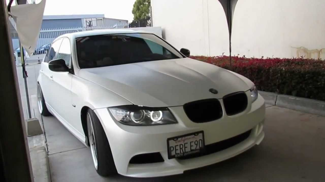 Bmw 335i Wrapped In Satin Pearl White By Impressive Wrap