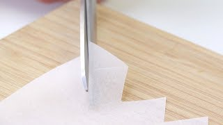 Cut Small Corners Out Of The Parchment Paper – Your Guests Will Be Amazed