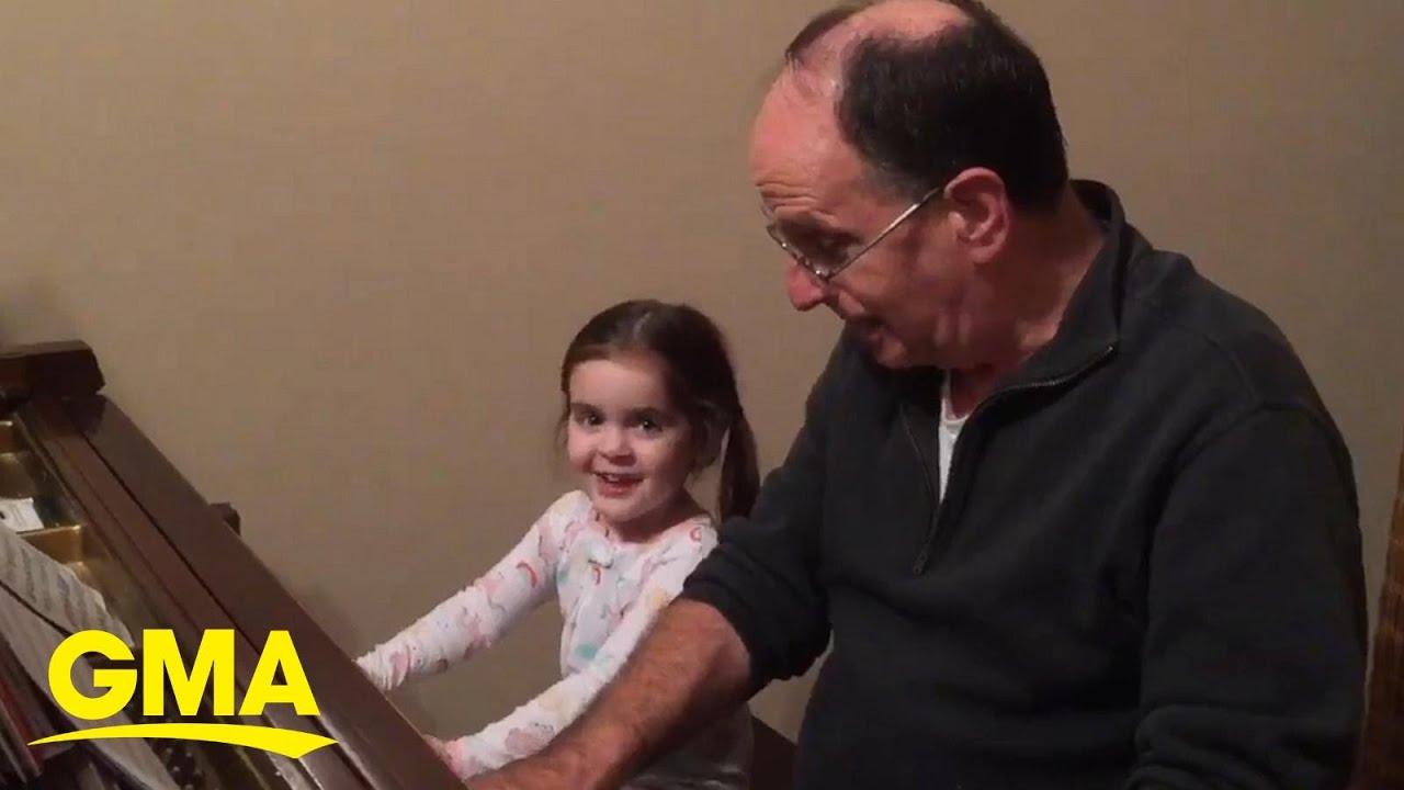 Musician grandpa bonds with granddaughter through sweet tunes