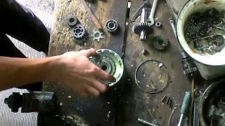 Сборка корзины сцепления двигателя(139FMB) мопеда