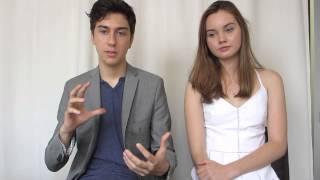 Nat Wolff and Liana Liberato Talk About Movies