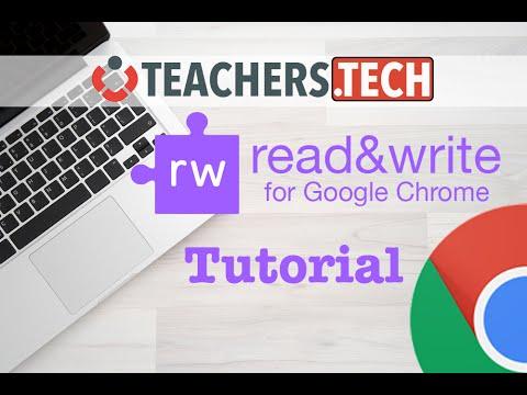 Read&Write for Google Chrome - Tutorial (2016)