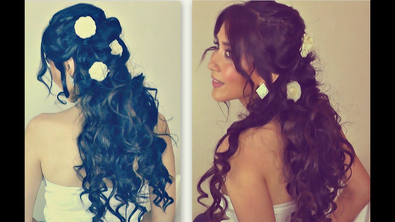 ★romantic Curly Homecoming Hairstyles Updos Hair Tutorial